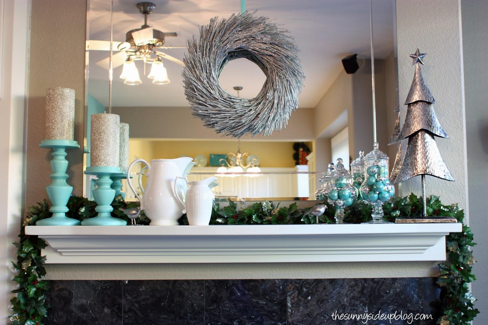 2011 Christmas Mantel Sunny Side Blog