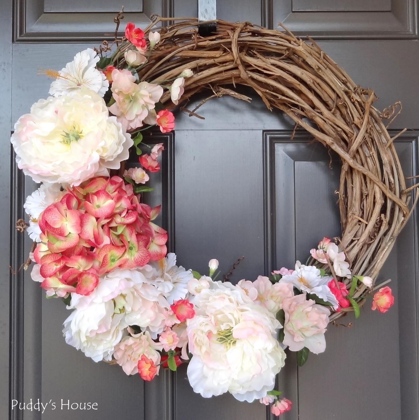 2014 Diy Spring Wreath Puddy House
