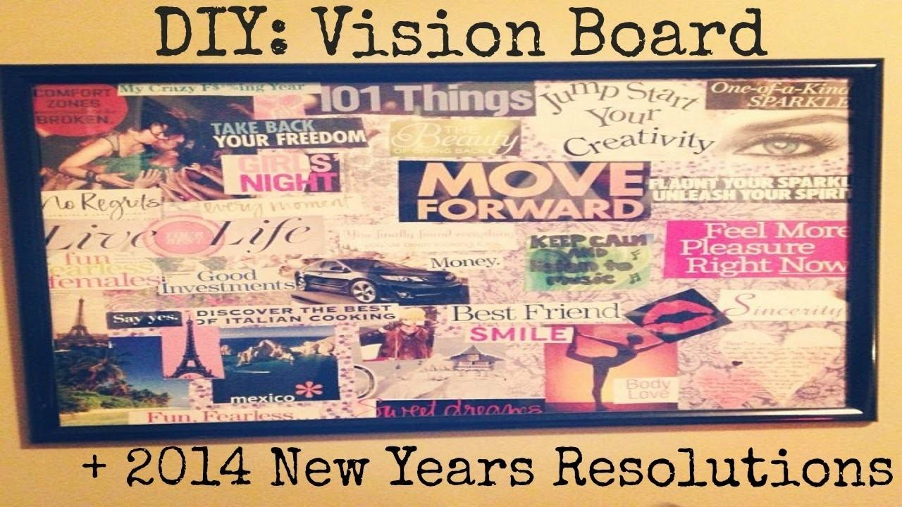 2014 New Years Resolutions Diy Vision Board