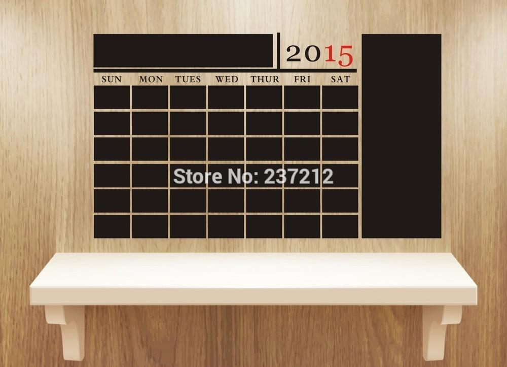 2015 New Diy Monthly Chalkboard Calendar Large Note