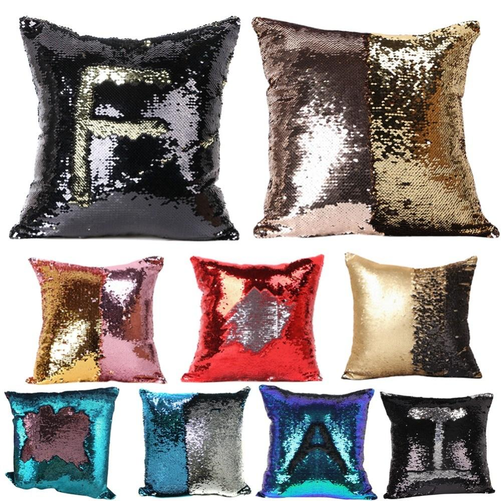 2016 Diy Glitter Sequins Pillow Cases Color Scale