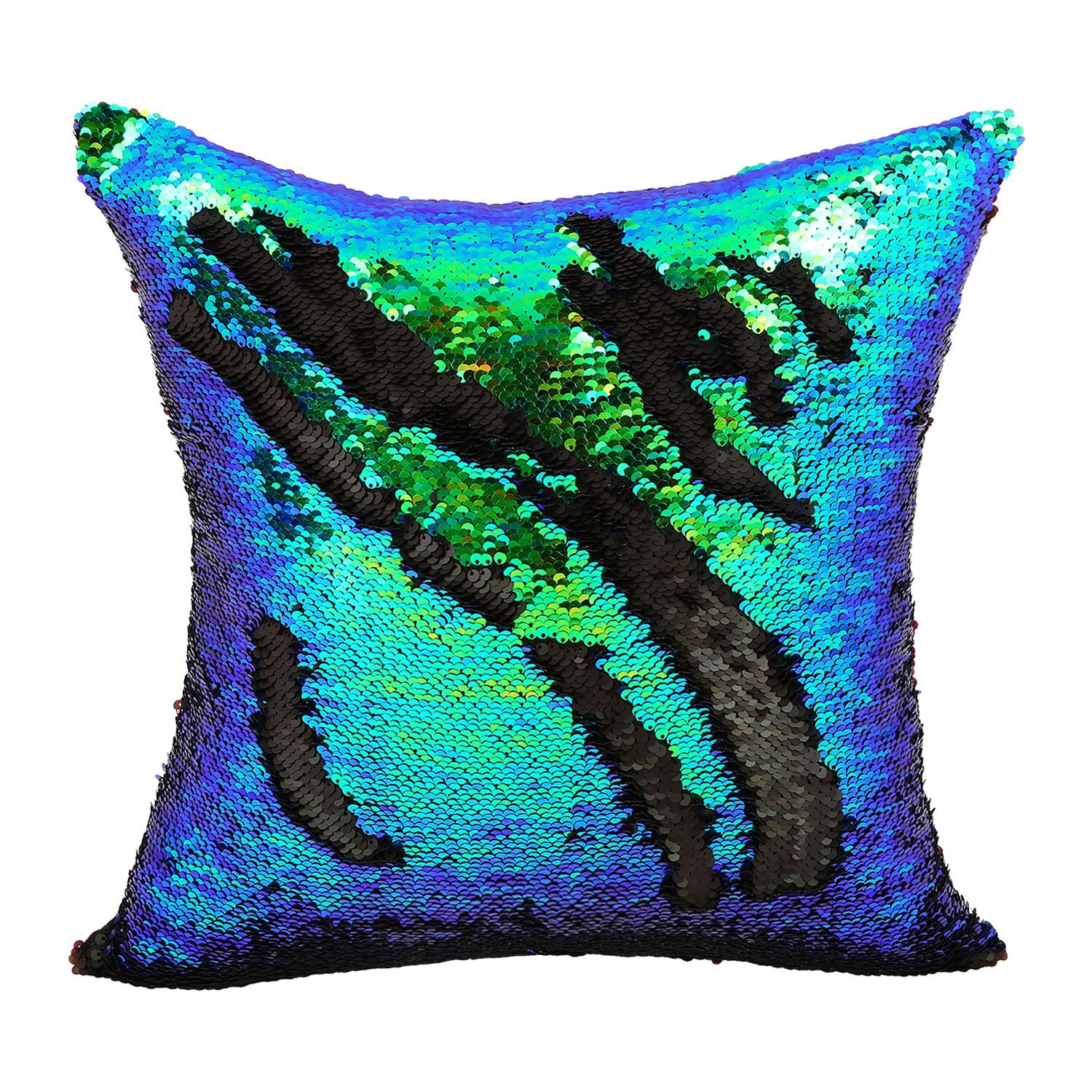 2016 Diy Glitter Sequins Throw Pillow Cases Color Changing