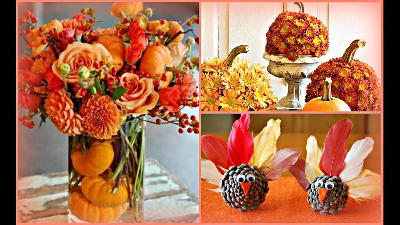 2016 Diy Thanksgiving Centerpiece Ideas Fall Home Decor