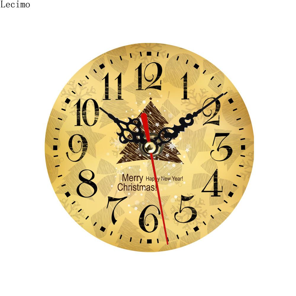 2016 Modern Design Vintage Wooden Wall Small Clock Shabby