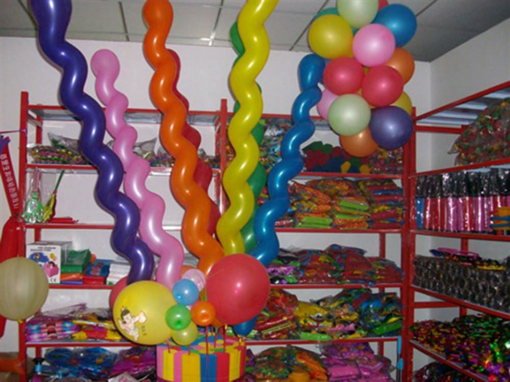 2016 Multi Colors Twist Latex Balloon Screw Magic