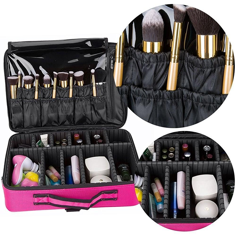 2016 New Arrival Professional Rose Red Cosmetic Carrying