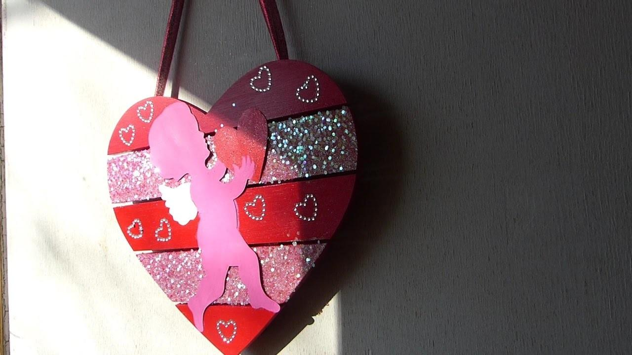 2017 Diy Valentine Day Decor Cupid Heart Wall