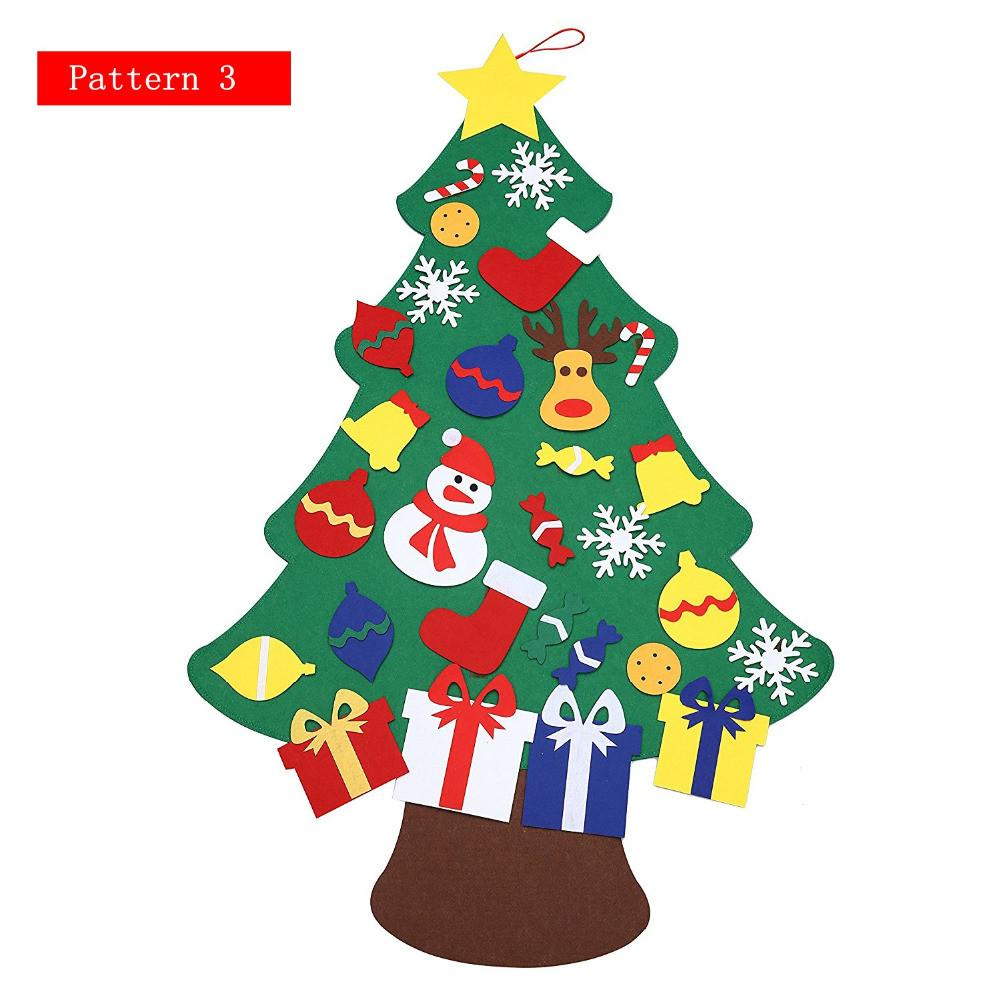 2017 New Kids Diy Felt Christmas Tree Set Ornaments