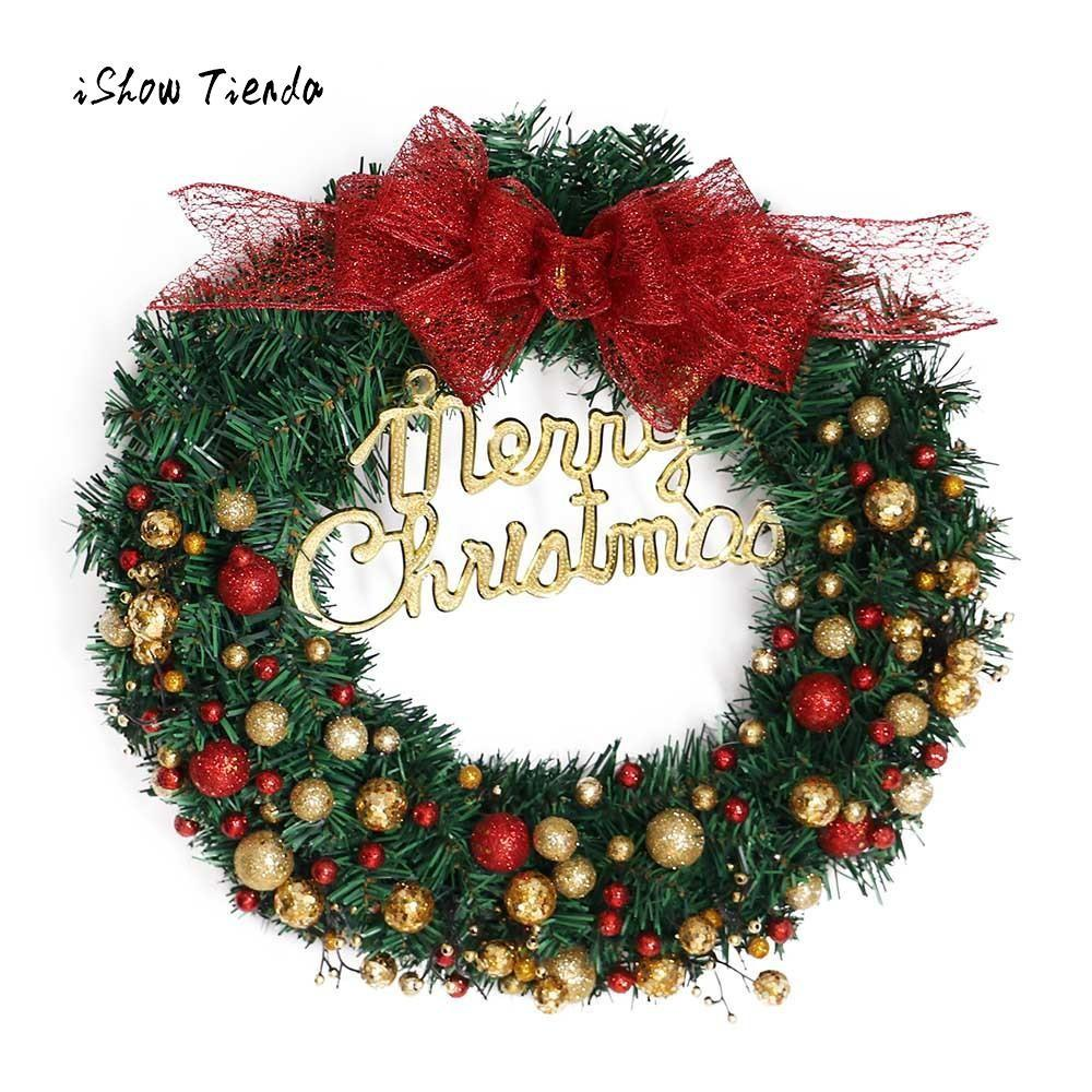 2018 New Year Home Decoration Merry Christmas Wreath 40cm