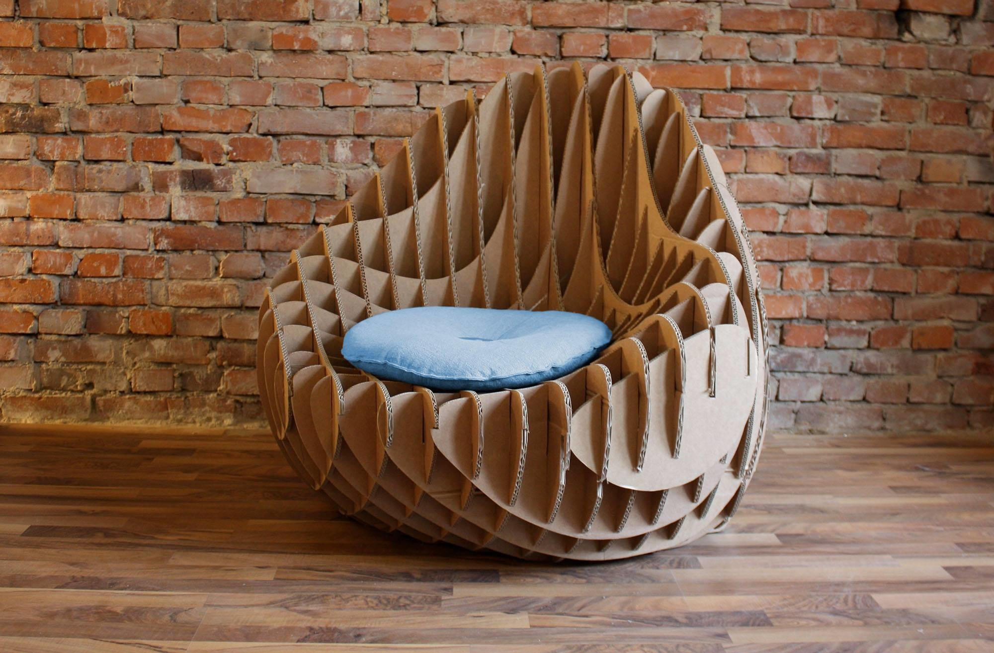 205 Recycled Cardboard Armchair Crowdyhouse