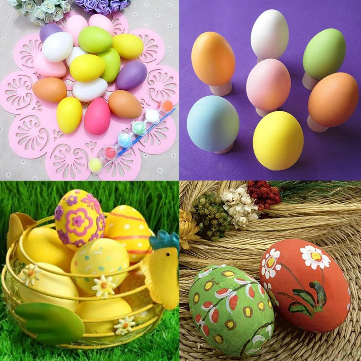 20pcs Simulation Bright Plastic Easter Eggs Diy Party