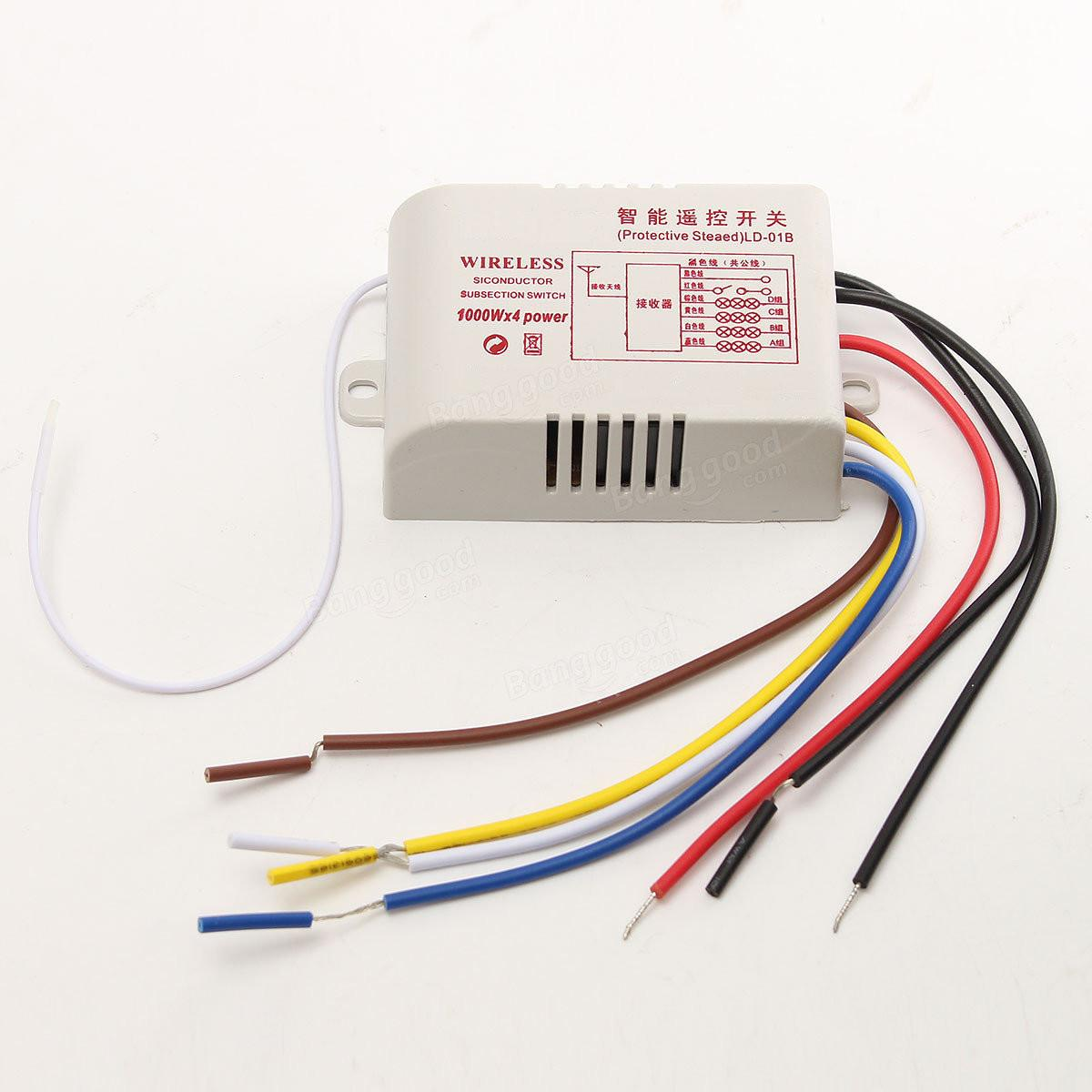 220v 315mhz 4ch Wireless Smart Light Remote Control Switch