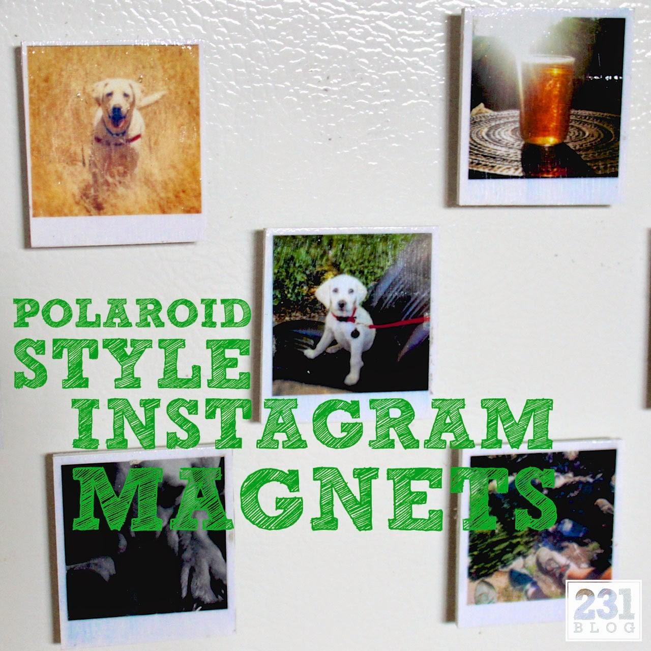 231 Designs Diy Polaroid Style Instagram Magnets