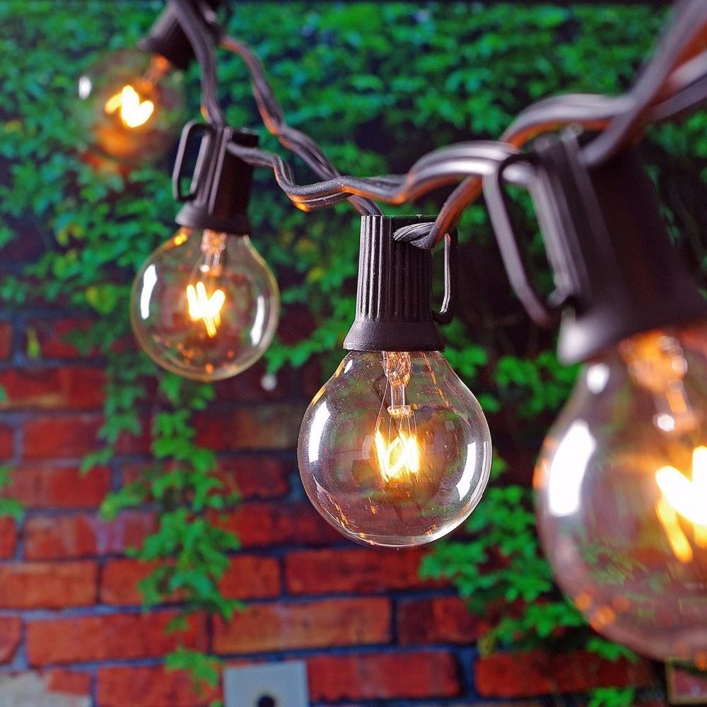 25ft Globe String Lights G40 Bulbs Vintage Patio