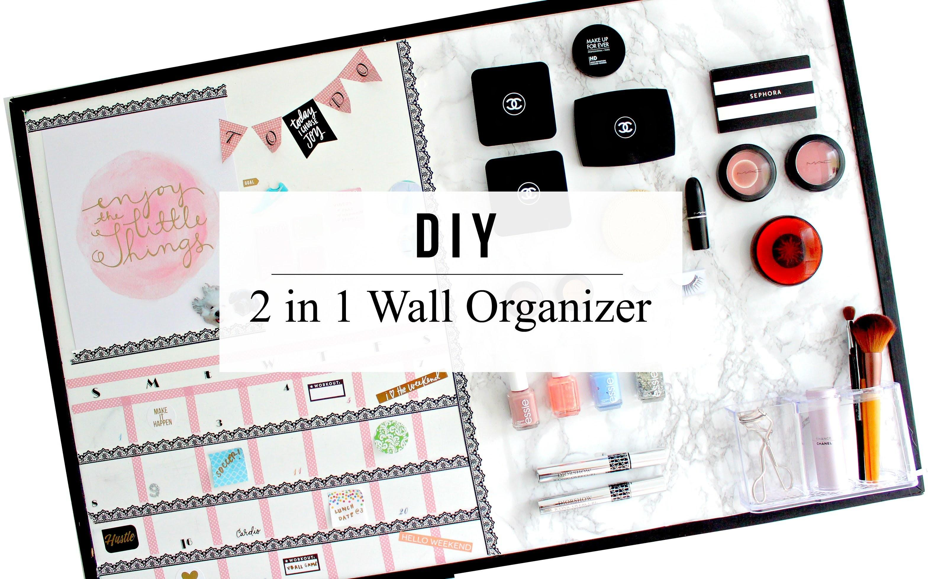 2in1 Diy Wall Organizer Magnetic Makeup Board