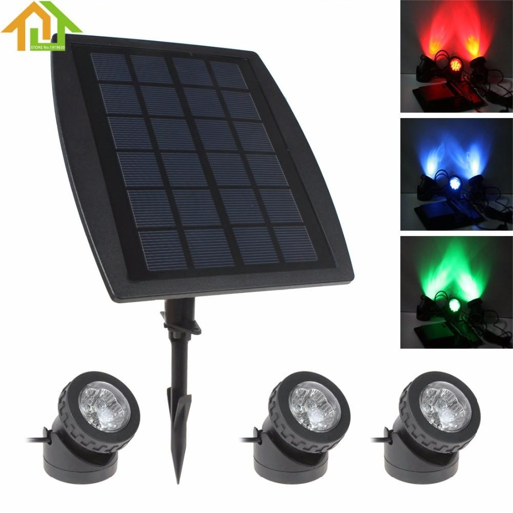 2pc Led Solar Garden Lights Lamp Powered Lawn