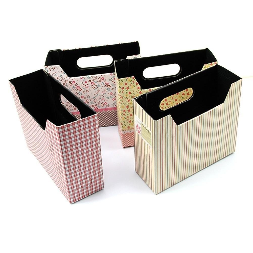 2pcs Cosmetic Stationery Diy Paper Board Storage Box Desk