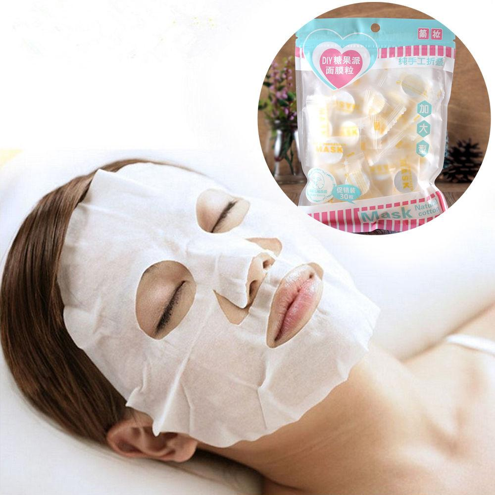 30x Non Woven Fabric Paper Skincare Diy Compressed Facial