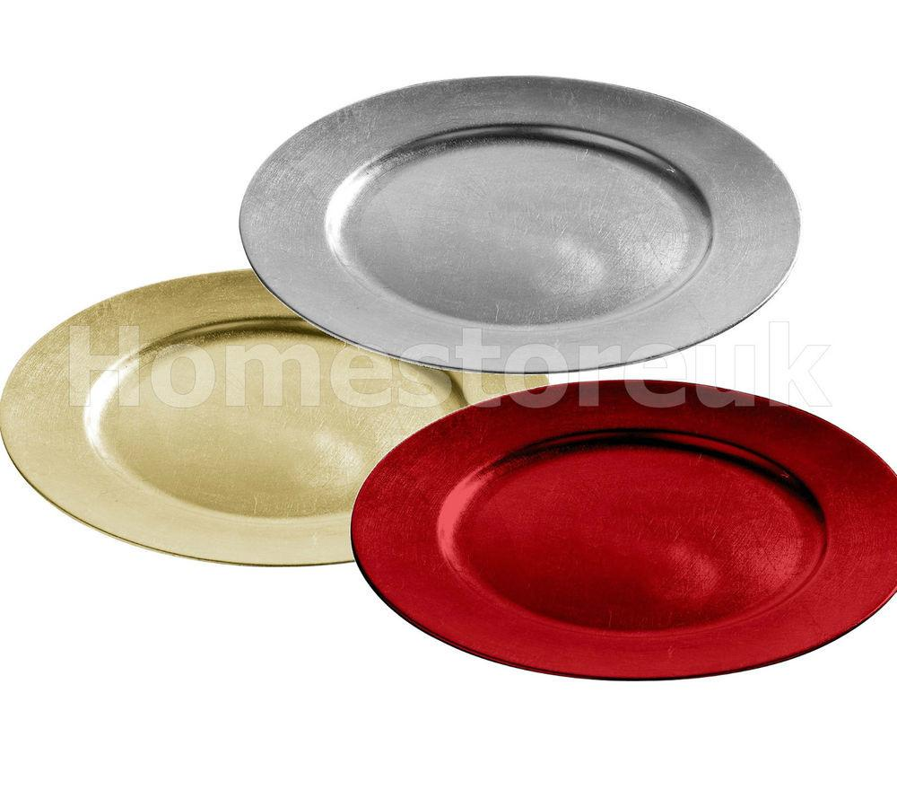 33cm Round Flat Style Charger Plate Table Dish Under