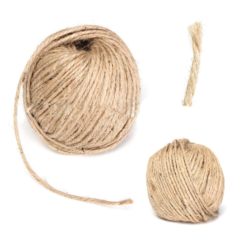 3mm Thick Brown Rustic Jute Twine Hessian String Cord Rope
