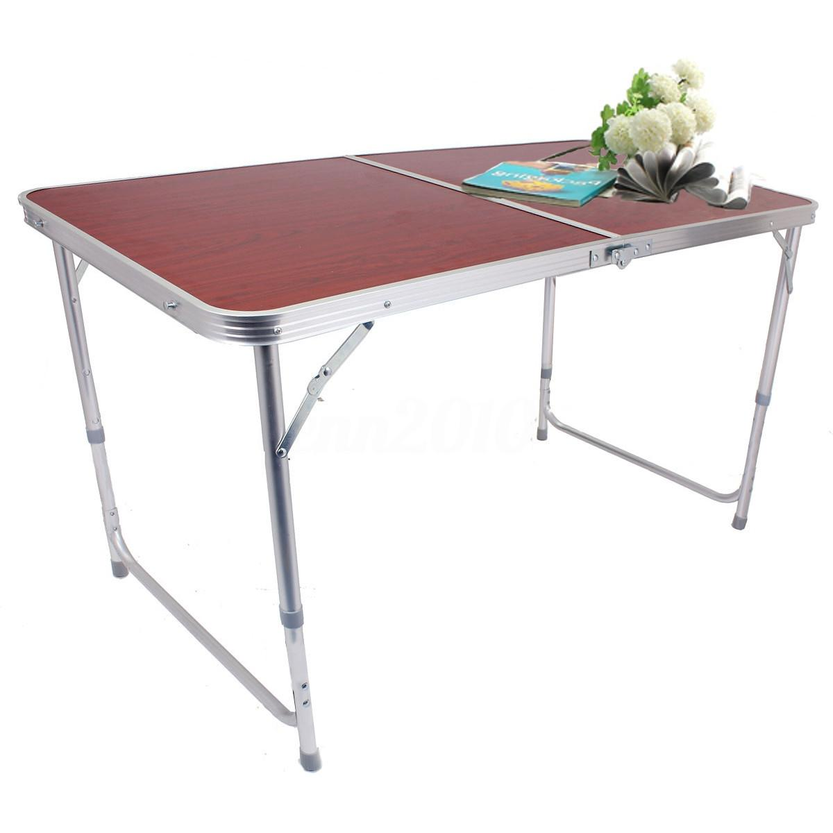 4ft Folding Table Portable Plastic Indoor Outdoor Picnic