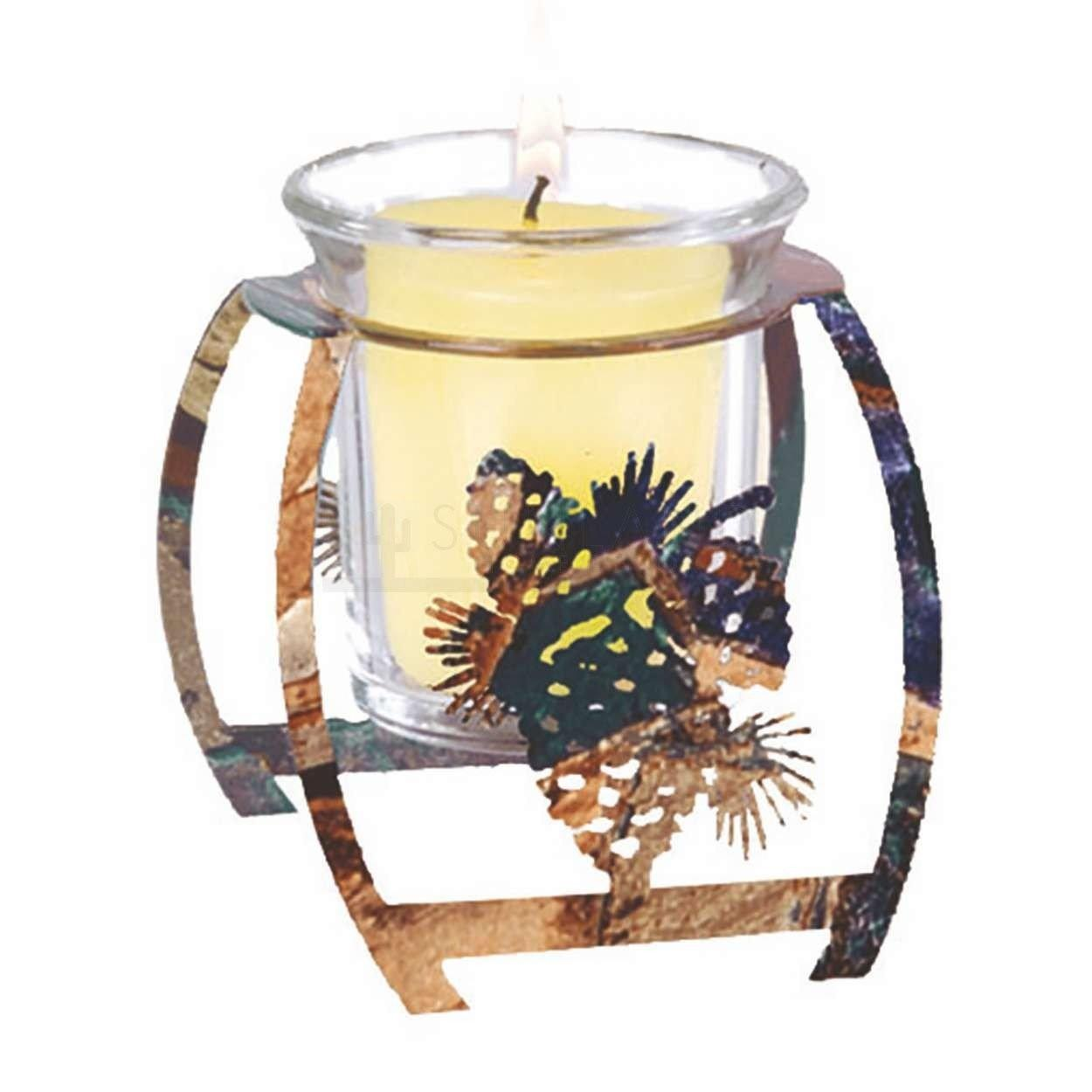 4in Artlites Candle Holder Pine Cone Rusticfusion