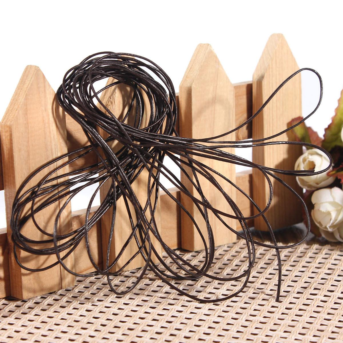 4mm Leather Thong Cord Reel Roll Suede Craft String