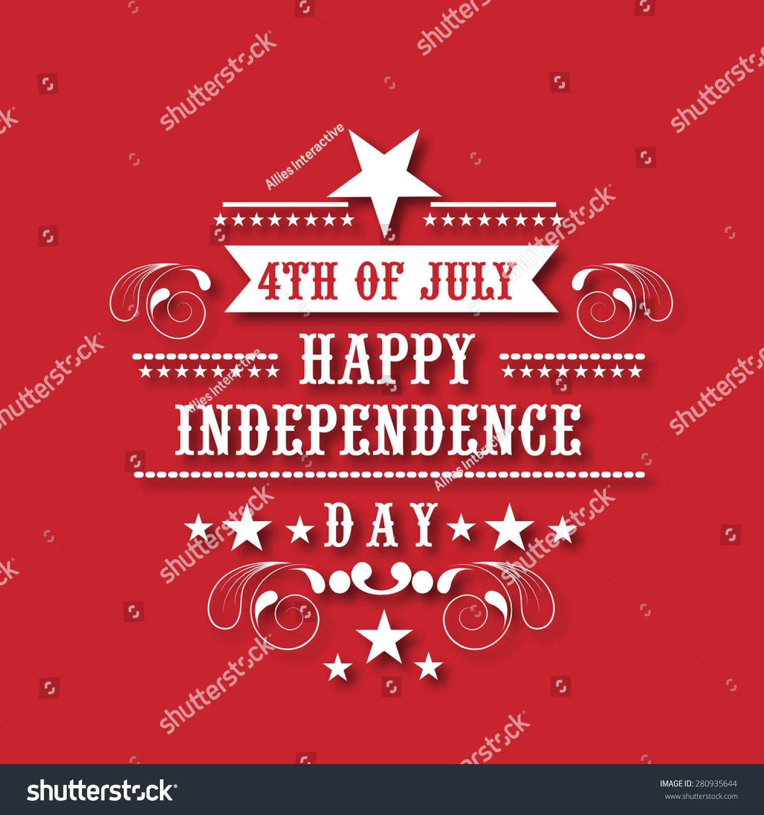 4th July American Independence Day Celebration Poster