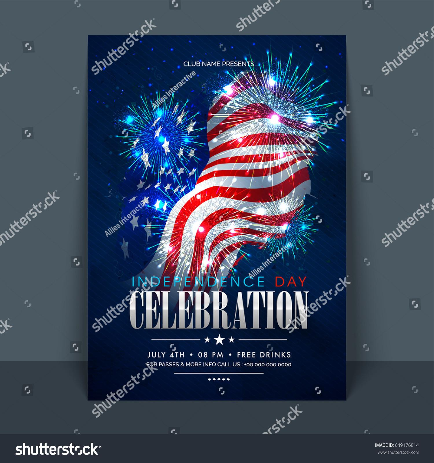4th July American Independence Day Celebration Stock