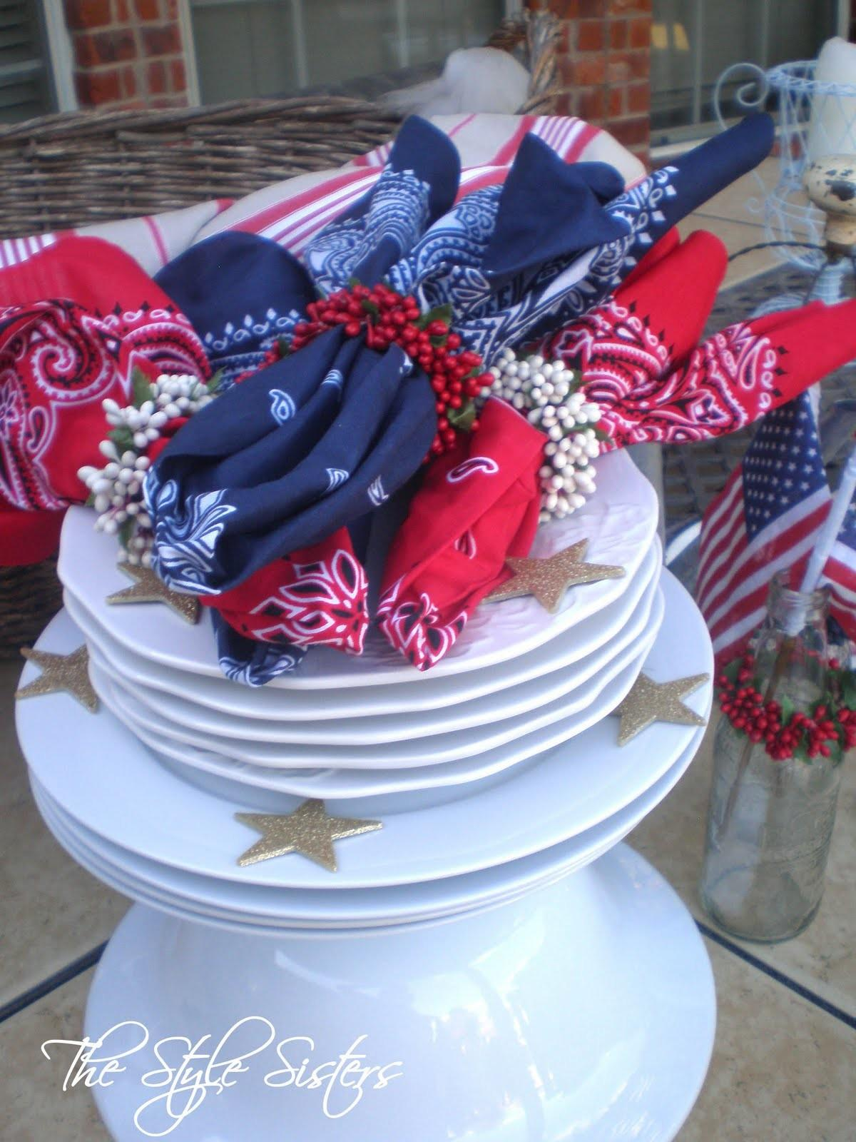 4th July Decorations Picnic Basket Style Sisters