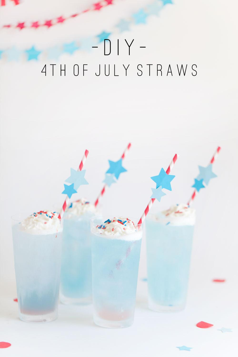 4th July Drinking Straws Tell Love Party