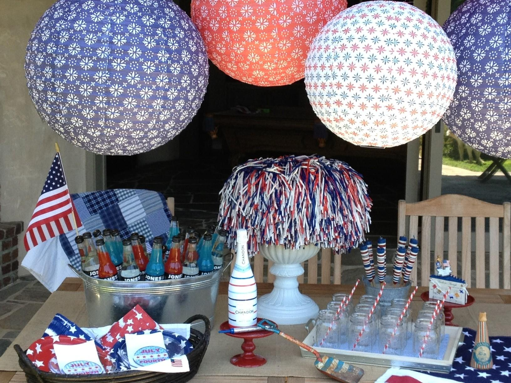 4th July Party Decor Paper Lanterns Partyideapros