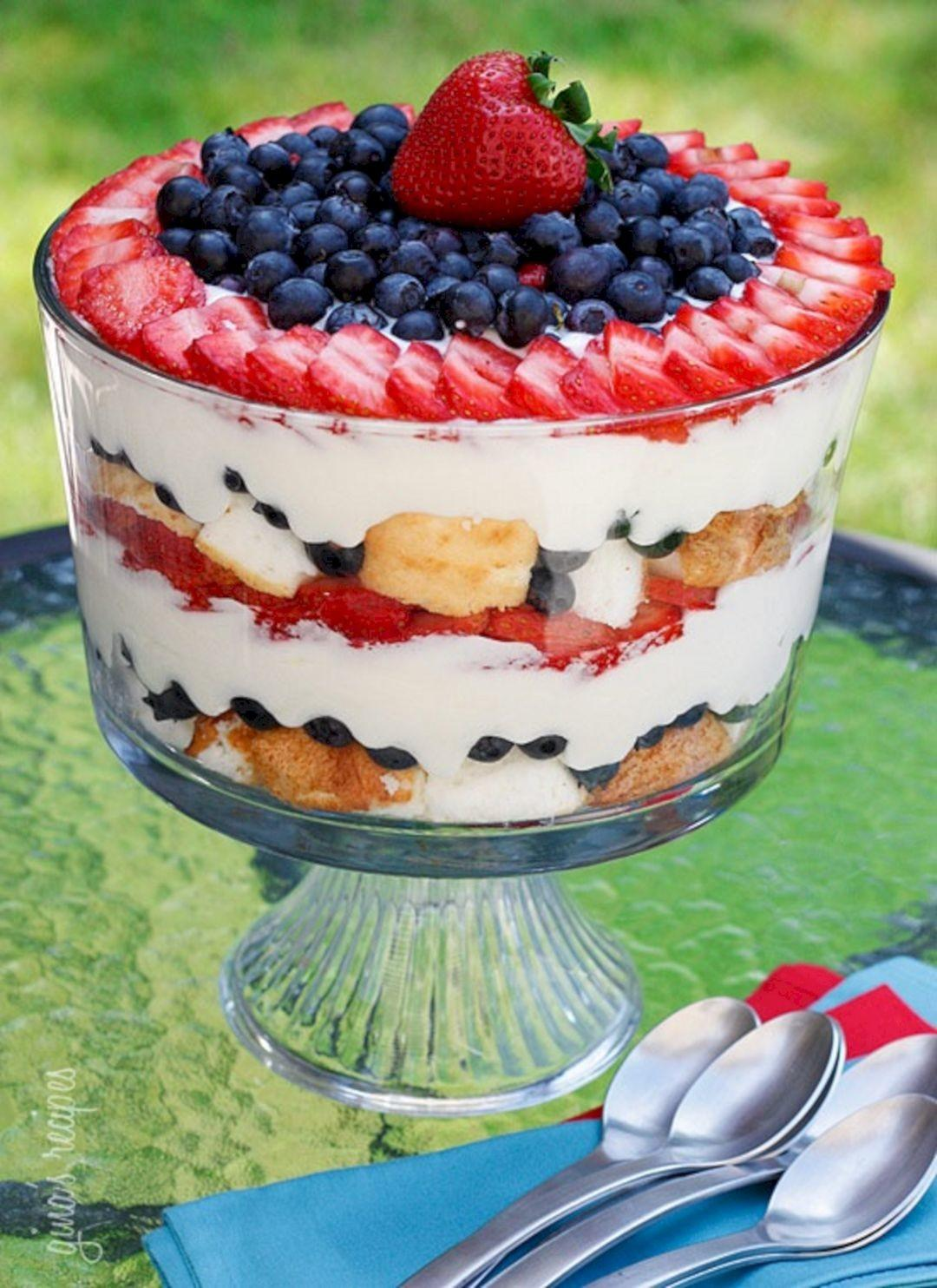 4th July Recipes Red White Blue Montenr