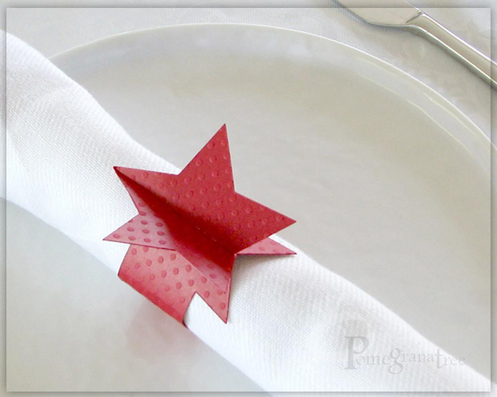 4th July Star Paper Napkin Rings Party Supplies