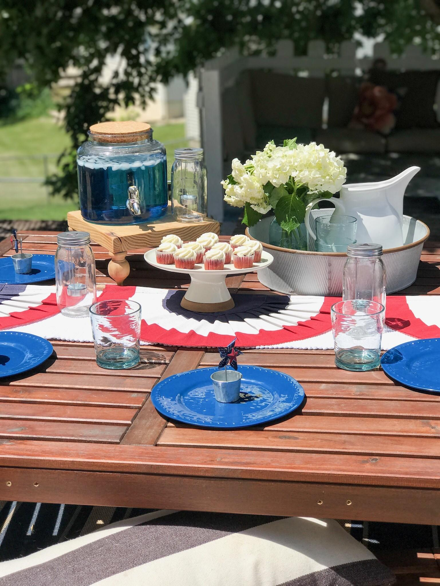 4th July Tablescape Little Home Reloved