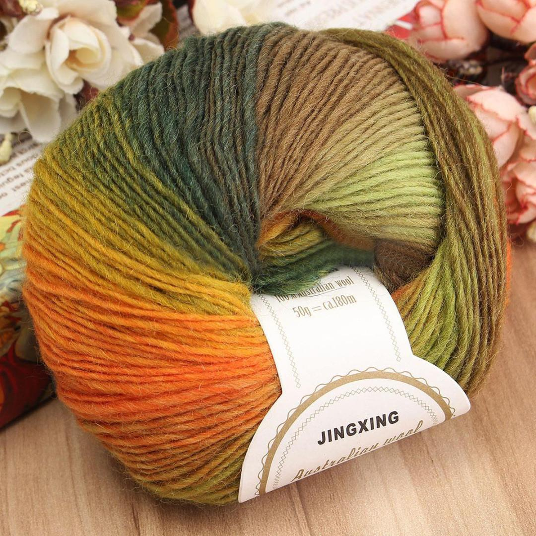 50g Ball Colorful Soft Baby Cashmere Wool Hand Knitting