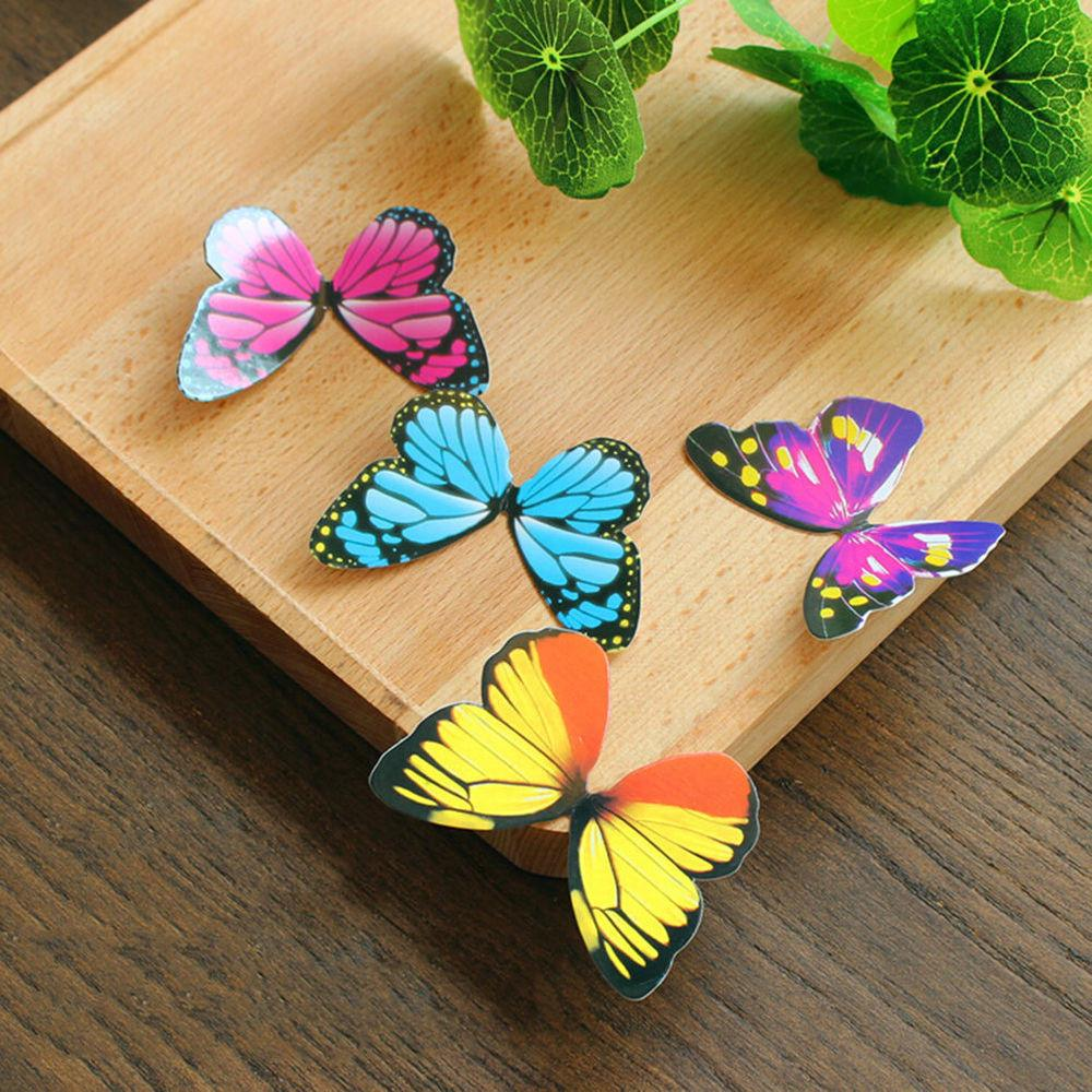 50pcs Butterflies Rainbow Diy Cupcake Fairy Cake Toppers