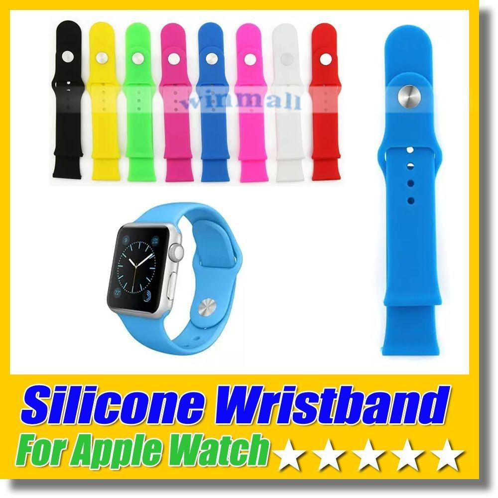 50pcs Silicone Strap Soft Rubber Watch Band Colorful