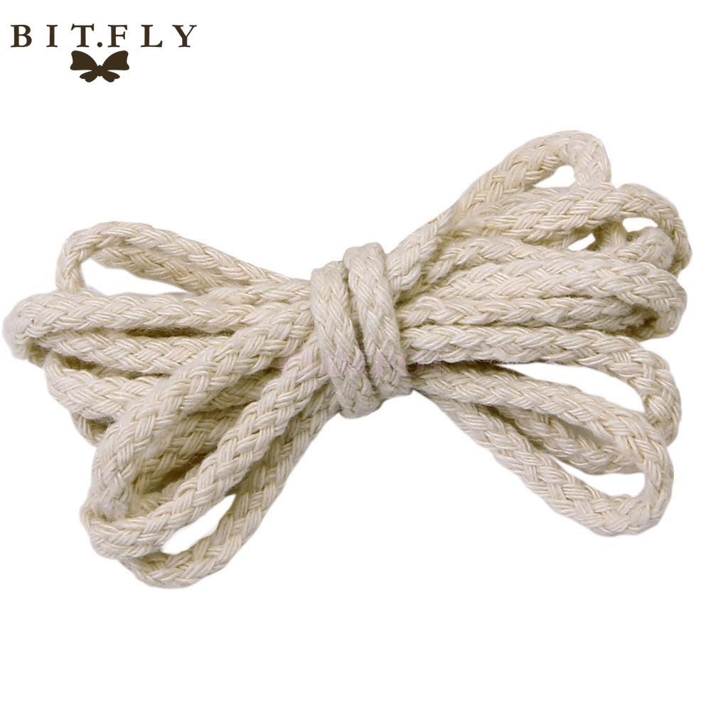 5mm 100m Natural Braided Woven Twisted Cotton Cord Rope