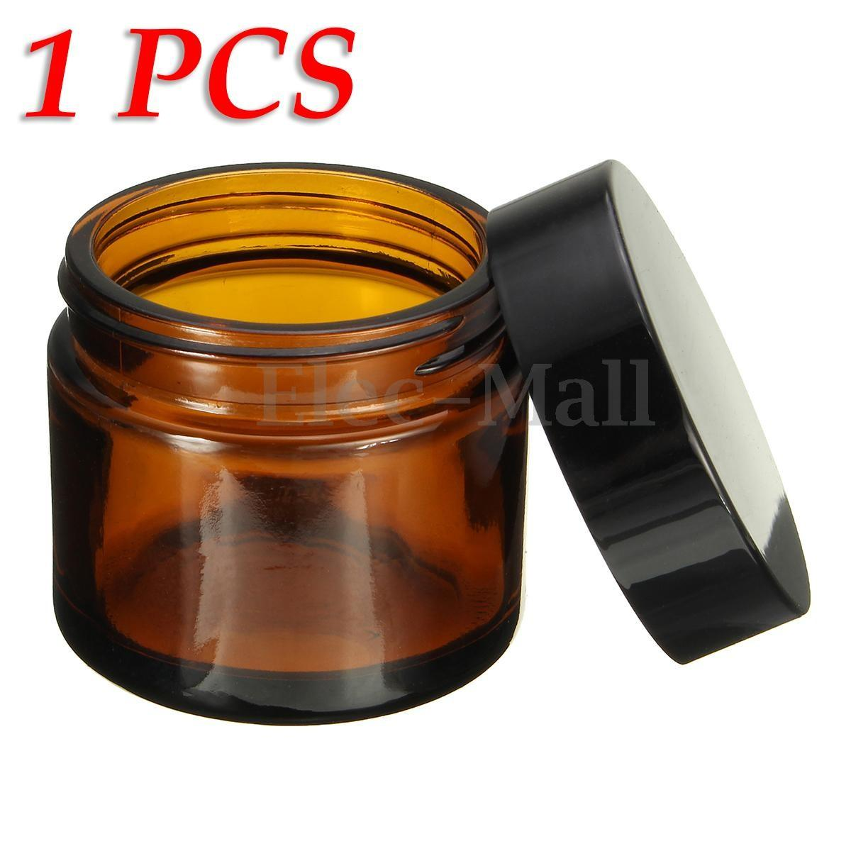 60ml Amber Glass Jar Bottles Containers Cream Diy