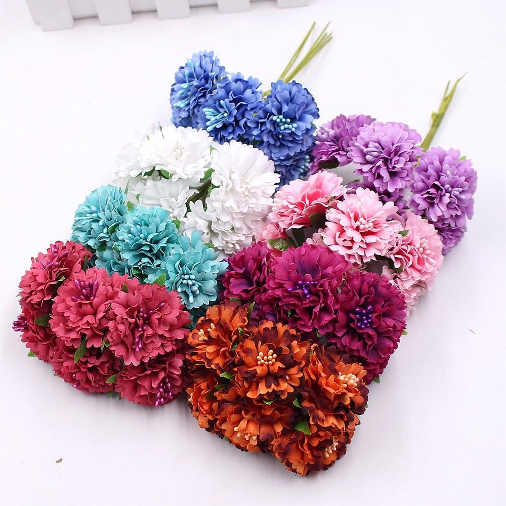 6pcs 5cm Silk Daisy Artificial Flower Wedding Home