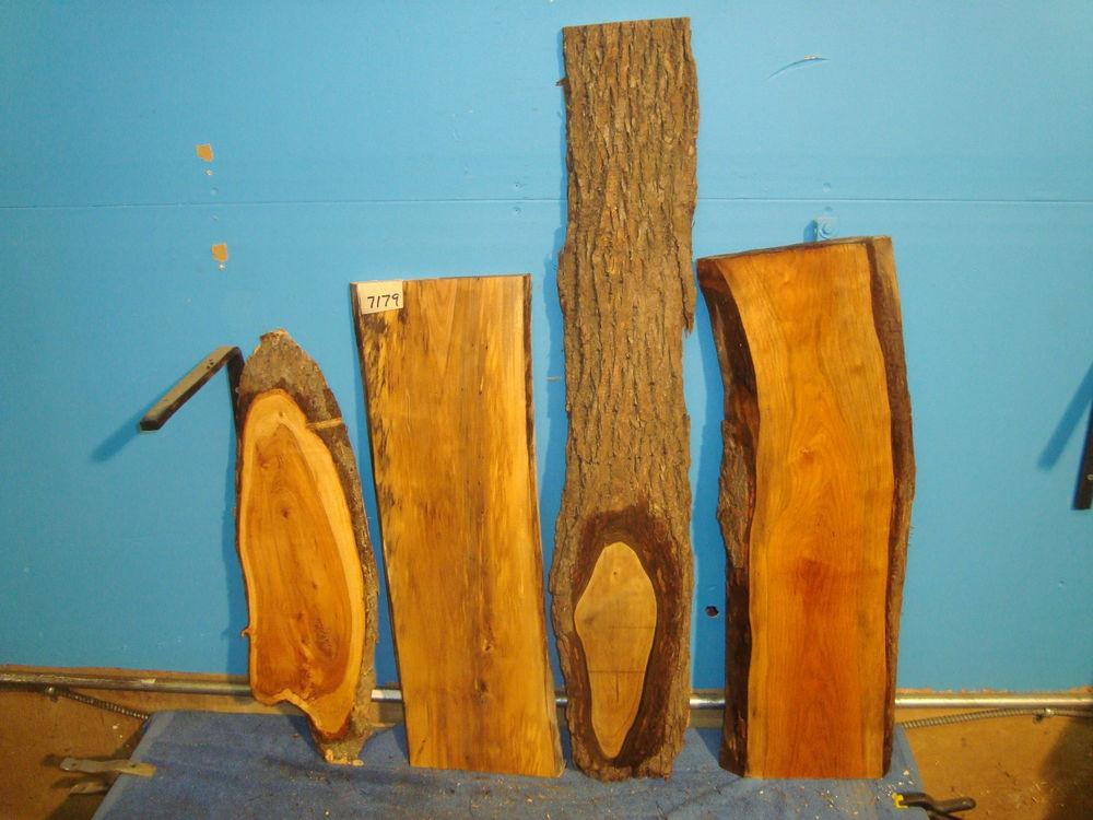 7179 Mixed Slabs Black Walnut Apple Cherry Spalted