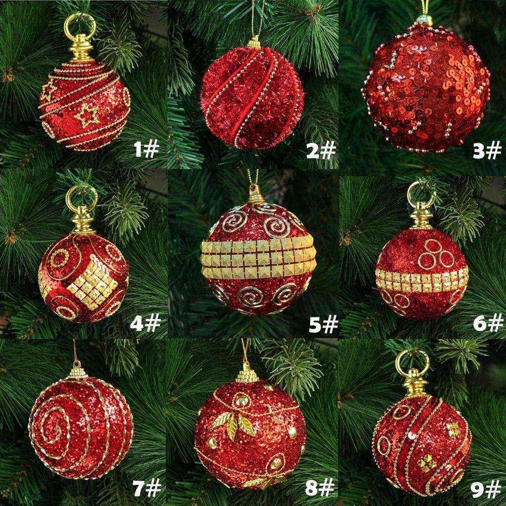 8cm 80mm Christmas Decor Luxury Round Balls