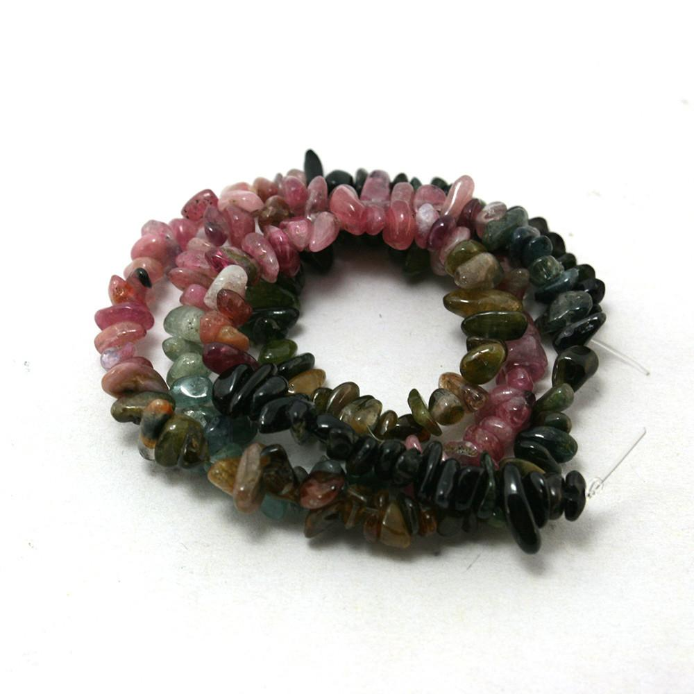 8mm Multi Colored Tourmaline Gravel Natural Jewelry