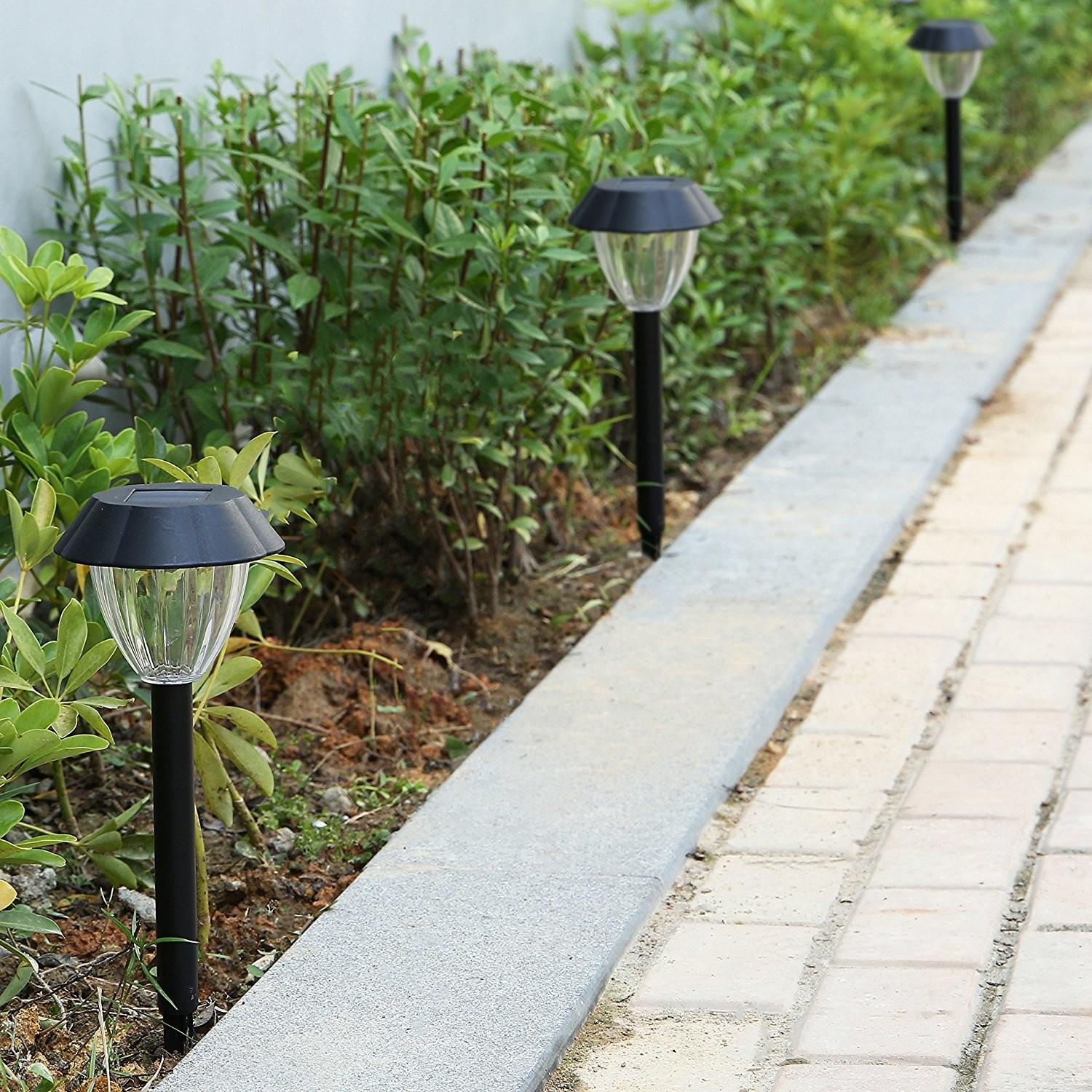 8pcs Solar Garden Lights All Weather Resistant