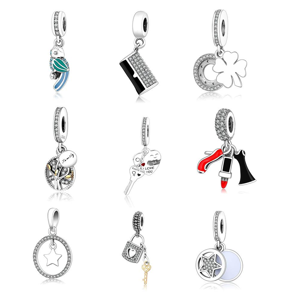 925 Sterling Silver Diy Beads Family Tree Dangle Charms