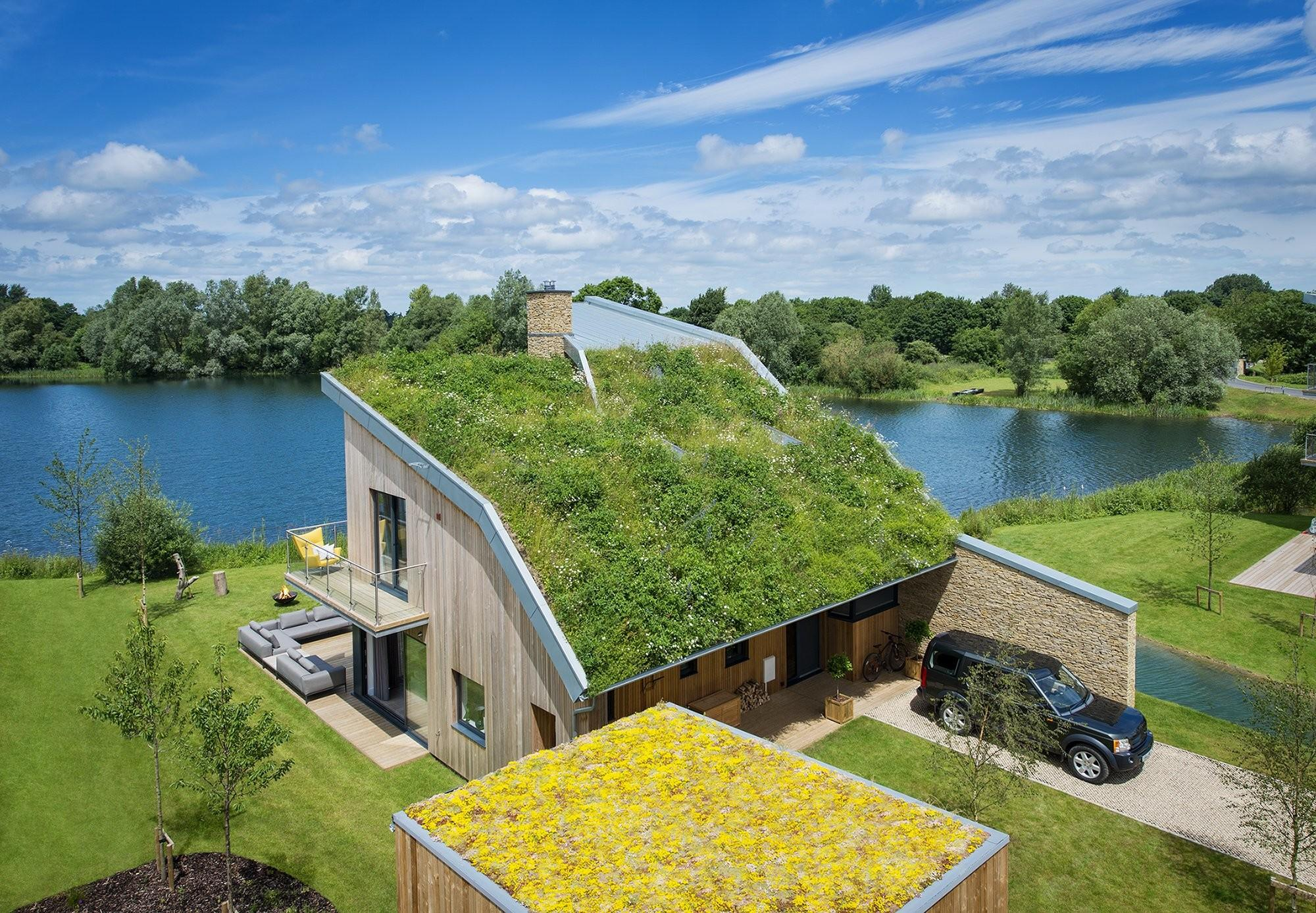 950 000 Lakeside Home Sloping Green Roof