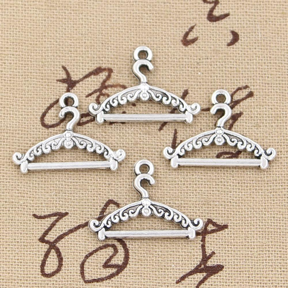 99cents 12pcs Charms Hanger Clothes Stand 17mm Antique