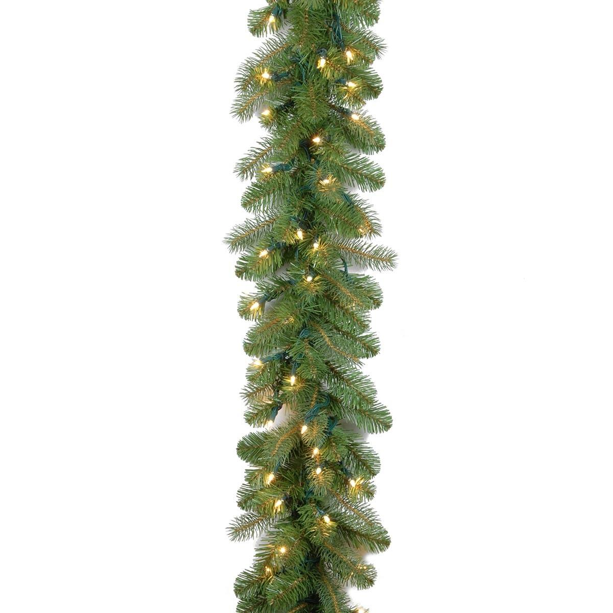 9ft Pre Lit Bayberry Spruce Feel Real Artificial Christmas