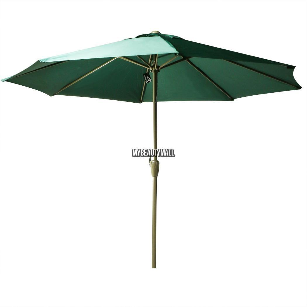 9ft Steel Outdoor Patio Umbrella Awning Sunshade Oxford